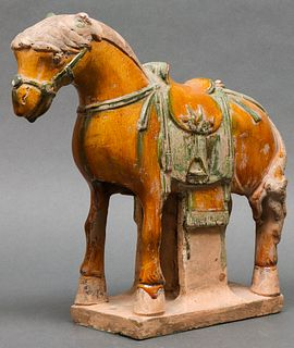 Chinese Ming Dynasty Sancai Glazed Horse