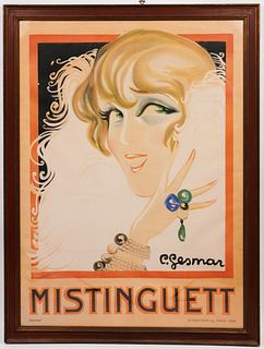 Charles Gesmar Mistinguett Large Lithograph Poster