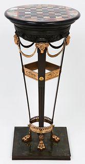 Empire Style Pietra Dura Top Gueridon / Pedestal