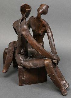 Yehiel Shemi Bronze Abstract Figural Sculpture
