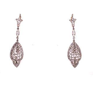 Platinum Diamond Drop EarringsÊ
