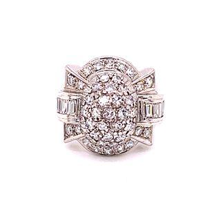 Art Deco Platinum Diamond ChevalierÊ