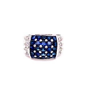 14k Sapphire Diamond RingÊ
