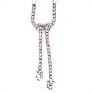 Art Deco 18k Platinum DiamondÊ