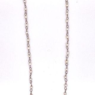 Platinum Pearl Chain