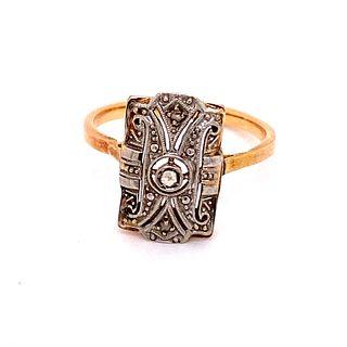1930Õ 18k Diamond Ring
