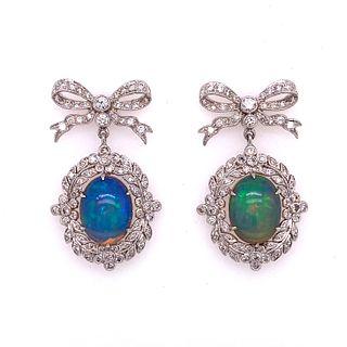 ÊOpal Diamond 18k Gold Earrings