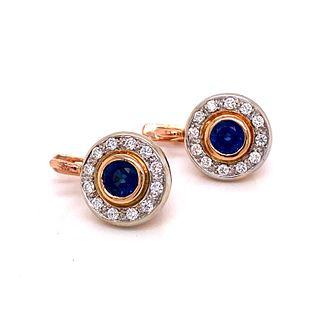 14k Sapphire Diamond Rosetta EarringsÊ