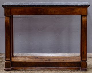 Empire Style Mahogany and Marble Top Sideboard