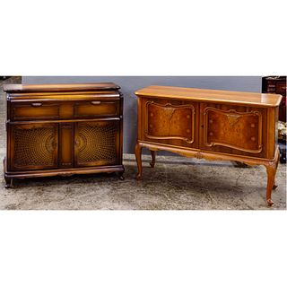 German Stereo Console and Wood Cabinet Assortment
