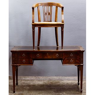 Sligh Sheraton Style Desk and Chair