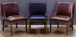 Donata Co. Ltd. for Sunpan Modern Home 'Halden' Leather Chair Assortment