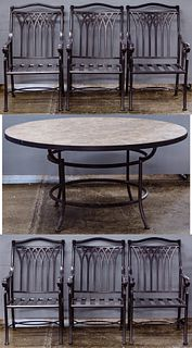 O. W. Lee Iron Table and Chair Assortment