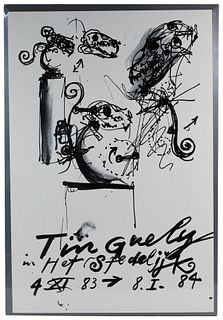 (After) Jean Tinguely (French / Swiss, 1925-1991) 'Tinguely in Het Stedelijk' Exhibition Poster