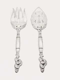 An Early Just Andersen Fish Serving Set