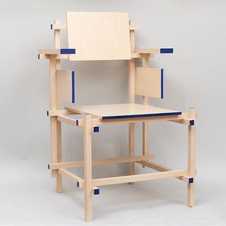 Gerrit Thomas Rietveld Painted Wood 'Dining Chair'