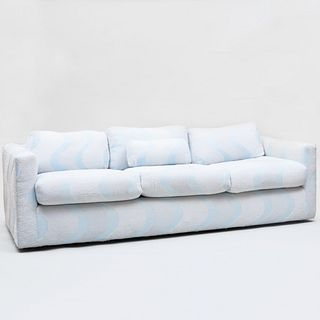 Milo Baughman Three Seat Sofa Upholstered Carolina Herrera Wool