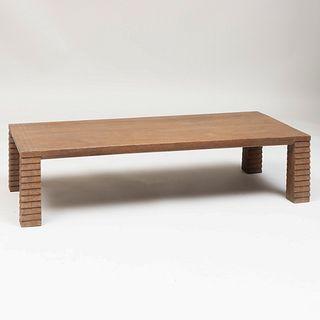 Jean-Michel Frank Style Cerused Oak 'Aragon' Low Table