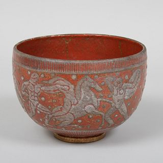 Jean Mayodon Art Deco Glazed Bowl