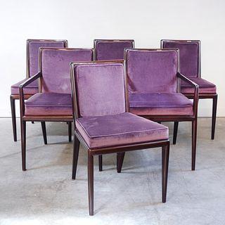 Set of Six Robsjohn-Gibbings for Widdicomb Walnut Dining Chairs