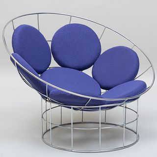 Verner Panton Chromed Metal 'Peacock' Chair
