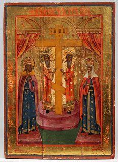 19th C. Russian Icon, Presentation of the Cross