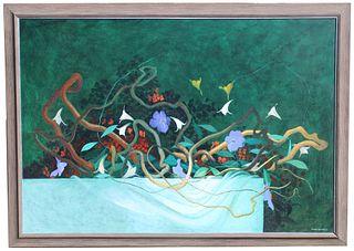 Bernard Sejourne (1947-1994) Monumental Painting