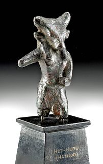 Egyptian Leaded Bronze Mnevis - ex Christie's & Museum