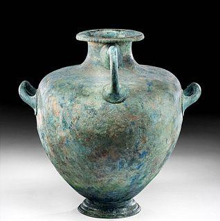 Large Greek Bronze Hydria