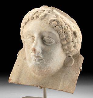 Superb Greek Terracotta Female Protome