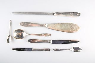 AN EXTENSIVE SILVER-PLATED TABLE SERVICE, by Priestley & Moore Ltd, in the