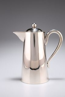 A CHINESE SILVER HOT WATER JUG,?Wing Nam & Co, late 19th/early 20th century