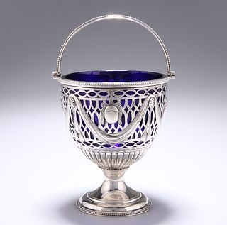 A GEORGE III SILVER SWING-HANDLED SUGAR BASKET,?by?Robert Hennell?I, London