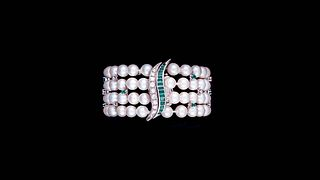 BRACELET WITH PEARLS AND EMERALDS 1930s