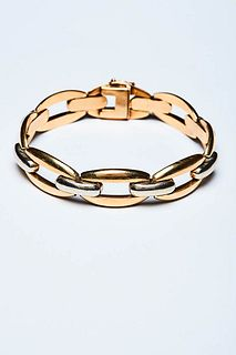 TWO COLOR GOLD BRACELET 1930s