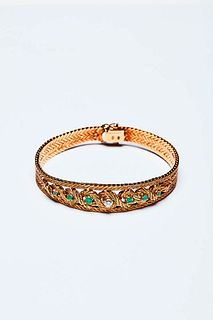 BRACELET FROM THE 1960S WITH EMERALDS