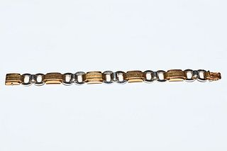 TWO-COLOR GOLD BRACELET FROM THE 30s