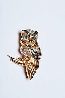 IMPERIAL OWL BROOCH 1950s