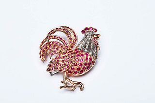 ROOSTER BROOCH 1950s