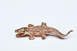 CROCODILE BROOCH 60s
