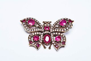 CARPE DIEM BUTTERFLY BROOCH- 1940s