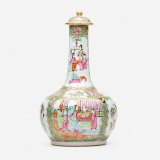 Chinese Export, Canton Rose vase and cover