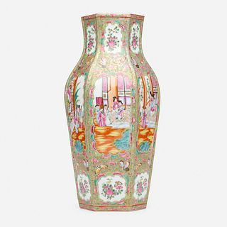 Chinese Export, Canton Rose vase