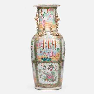 Chinese Export, Large Canton Rose vase
