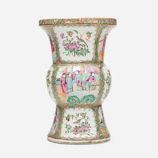 Chinese Export, Canton Rose gu vase