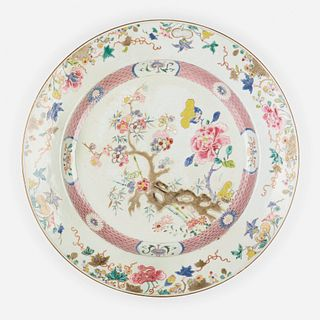 Chinese Export, Famille Rose center dish