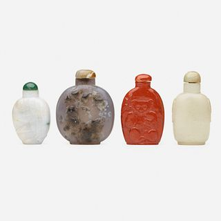 Chinese, jade snuff bottles, collection of four