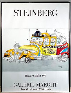 Saul Steinberg Exhibition Poster, Maeght, Paris