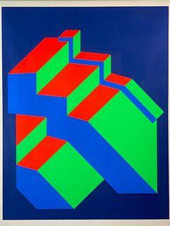 Op Art Screenprint, 1972