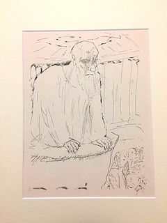 """Pierre Bonnard<br><br>The Teacher, 1930<br>Print, 32 x  24 cm<br>Monogram of the artist on plate.<br>This lithograph is from the collection """"The Life"""